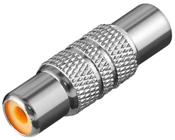 Goobay® Audio Adapter Chinch Kupplung Verbinder 2*Cinch Buchse Metall
