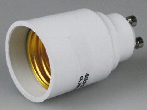 1* Lampensockel Adapter von Sockel GU10 > E27 Fassung Leuchtmittel LED kompat.