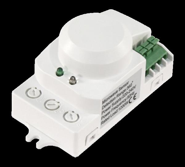 Mikrowellen Bewegungsmelder 360° 230V CW Radar 5,8 GHz 1200W 1-8m auch LED