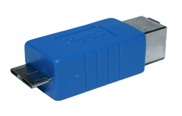 USB 3.0 Adapter Typ 3.0-B Buchse auf Typ 3.0-B Micro Mikro Stecker bis 5 Gb/s