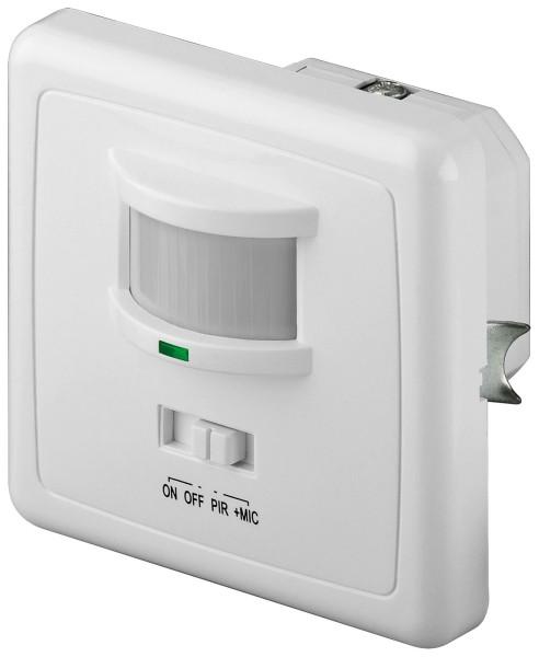 Infrarot Bewegungsmelder + Akustikfunktion für Unterputz 160° 4-9m 500W 10s-7min