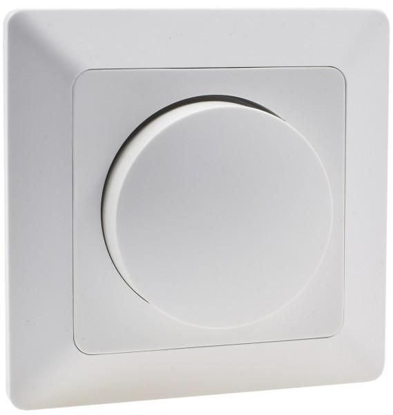 MILOS Dimmer für LED Lampen weiß matt 250V~/ 3-60W inkl. Rahmen UP