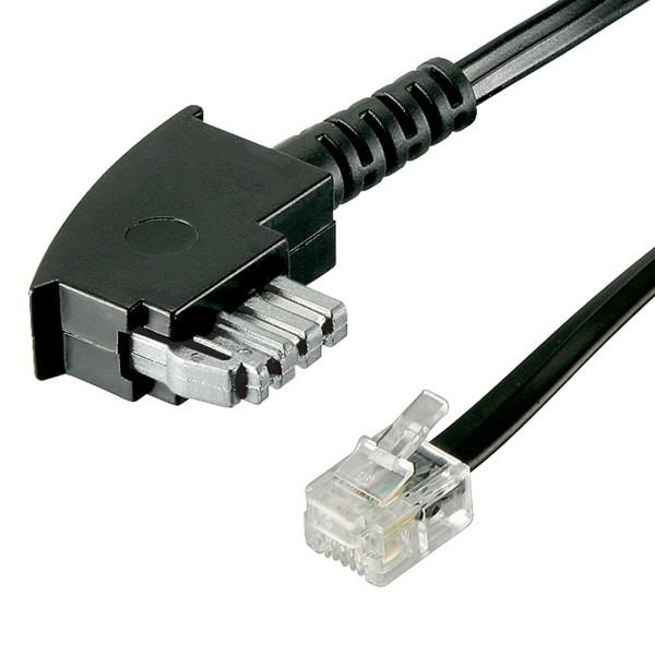 6m TAE N Kabel Faxkabel Modemkabel TAE-N Stecker auf RJ11 Stecker 6P4C 4-polig