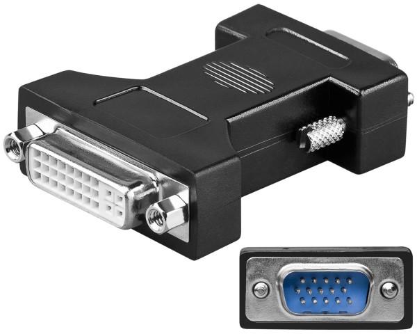 Goobay® Adapter DVI-I 24+5 Buchse auf VGA Stecker 15 polig Monitoradapter PC TFT