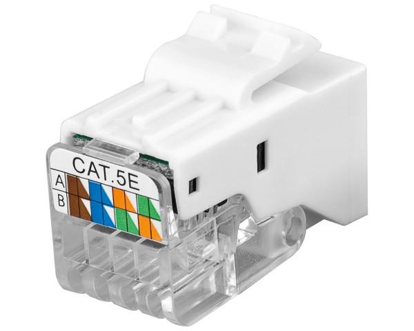 Goobay® CAT 5e KeyStone Jack RJ45 werkzeuglos UTP SNAP-IN CAT5e Modularkupplung