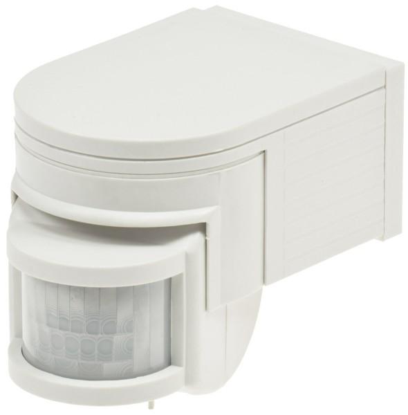 Bewegungsmelder in weiß 180° für Außen IP44 IR LED max.12m 1-1000Watt 10sec-8min