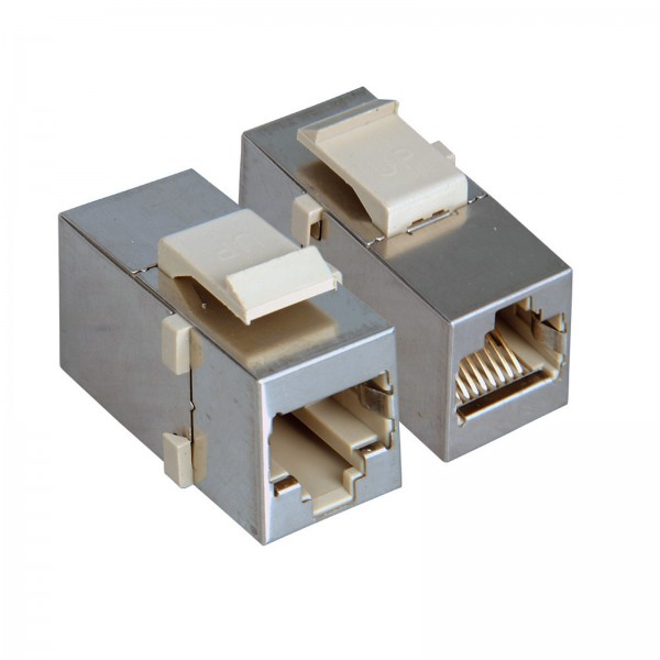 1* Cat5e Keystone Adapter Modul Kupplung Buchse RJ45 Patchpanels Netzwerk SNAPIN