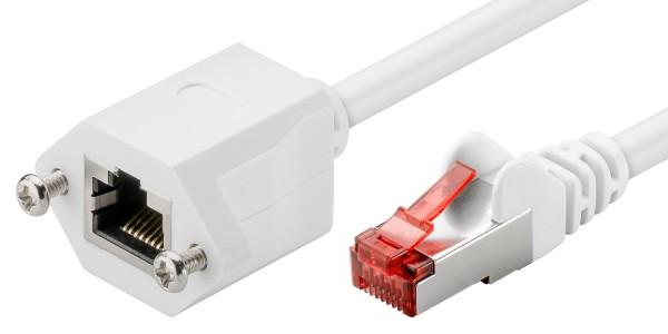 1m CAT 6 Netzwerkkabel Patchkabel Verlängerung F/UTP LAN DSL RJ45 Buchse weiß
