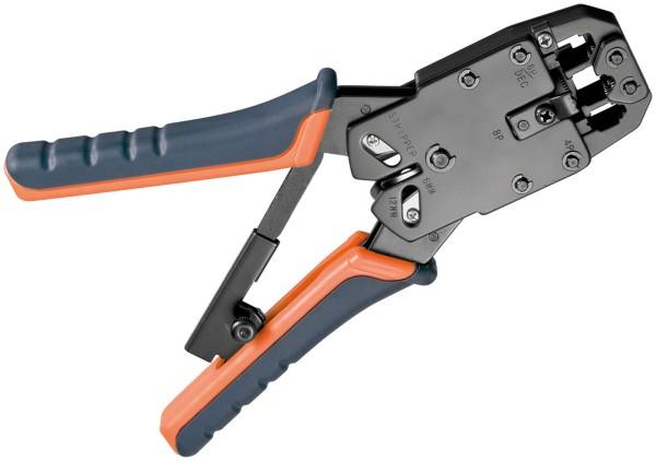 Fixpoint® Crimpzange 8p 8c CAT5e RJ45 Modularstecker + Kabelschneider +Abisolier