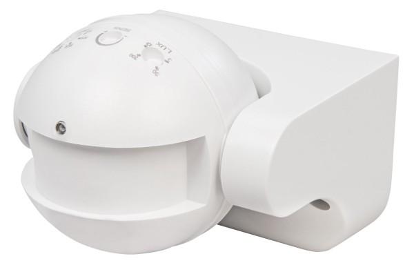 HF Bewegungsmelder 180° weiß IP44 Außen Mikrowellen 1-1200W LED geeignet 5-15m
