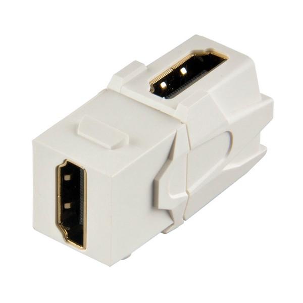 Keystone Modul HDMI Buchse 90° abgewinkelt Gender Changer weiß SNAP-IN