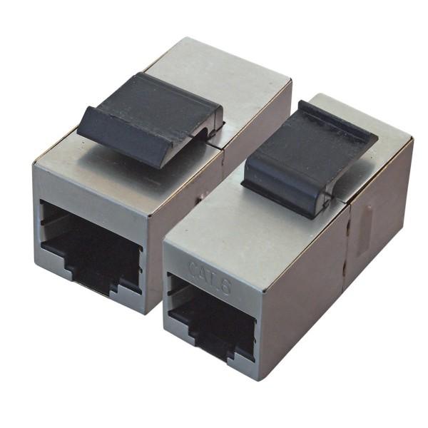 CAT 6 KeyStone LAN Verbinder 2*F-STP Buchse Modularkupplung Patchpanel SNAP-IN