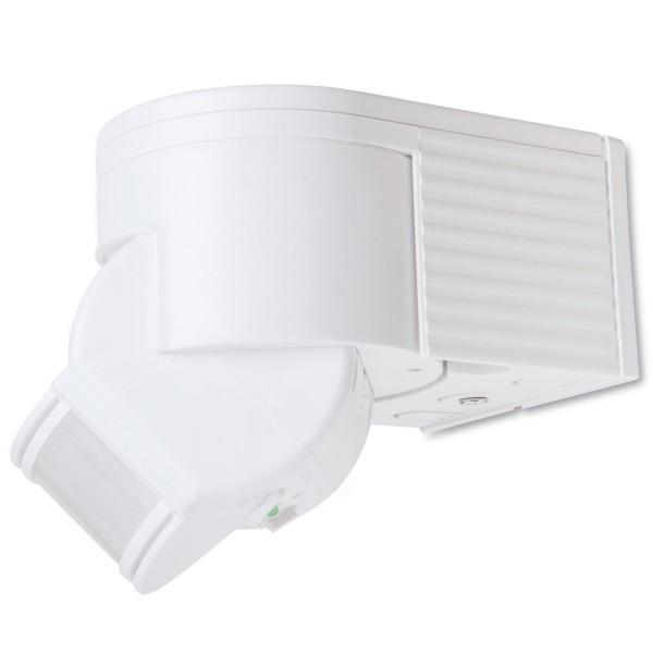 1* Bewegungsmelder weiß 10 -1200Watt bis 12m 180° Außen IP44 IR LED 10sec-8min