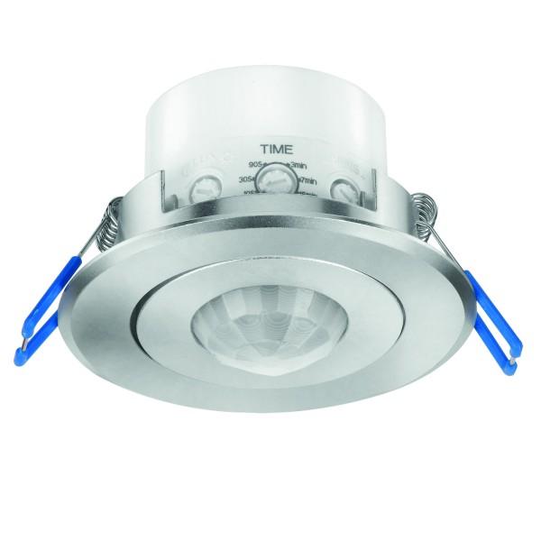 360° Bewegungsmelder silber Aluminium für Unterputz Einbau LED ok 10-1200W IP20