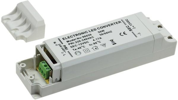 LED Trafo 12 Volt Treiber Driver 12V DC Transformator Vorschaltgerät IP20 1-50W