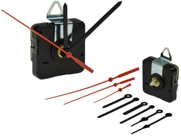 Quarz Uhrwerk mit 3 Zeigersätzen aus Kunststoff Wanduhr Ersatz Quarzuhr Zeiger