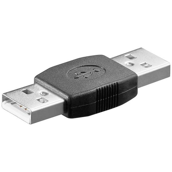 USB 2.0 Adapter Gender Changer 2* Typ A Stecker beidseitig Kupplung Verbinder
