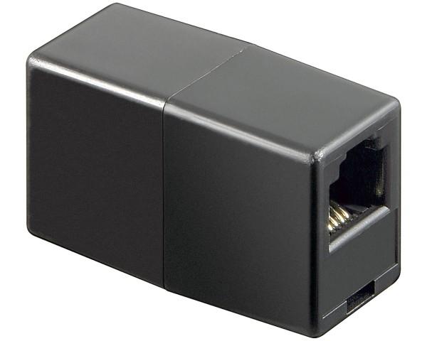 1 Stück RJ11/RJ14 Kupplung Buchse auf Buchse Telefon Festnetz Verlängerung 6P4C