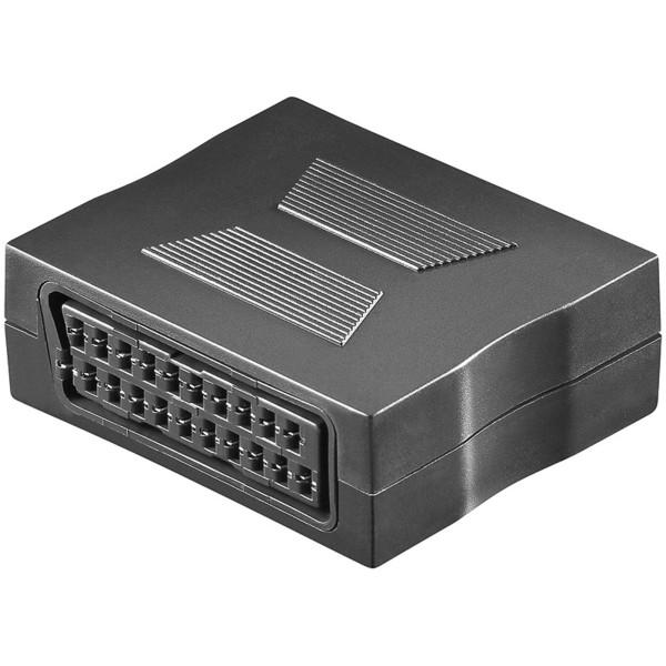 Video Scartkupplung Scart Verlängerung Kupplung Adapter 2* Buchse voll vernetzt
