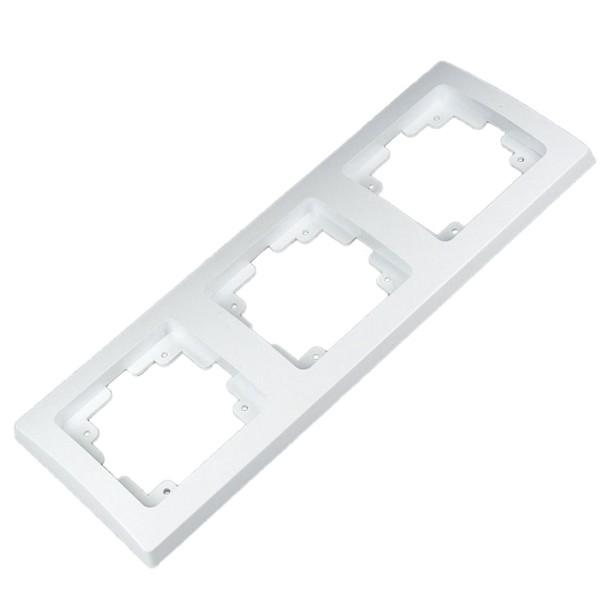 1* DELPHI 3-fach Rahmen weiß für Steckdose Wechsel-Schalter Dimmer Taster usw.