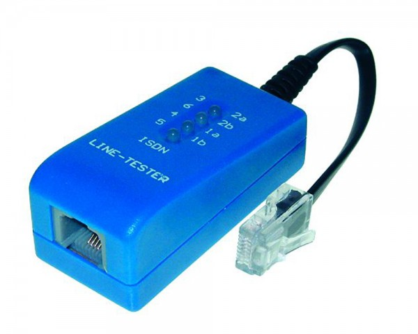 ISDN (RJ45) Leitungstester Netzwerktester Tester Testgerät Line Check 0,2m Kabel