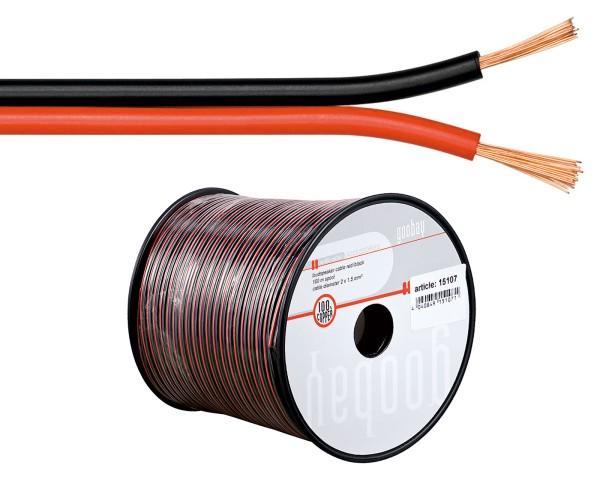 0,35€/m 60 m Boxenkabel 100% OFC Lautsprecherkabel rot/schwarz 0,5mm 60m