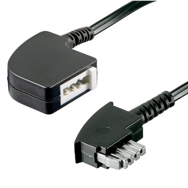 15m Telefon Kabel TAE N Verlängerung für Fax Modem Stecker > Buchse / Kupplung