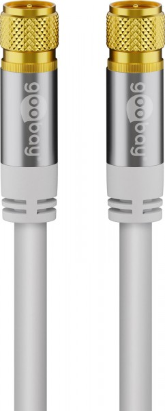 2m Sat Kabel Digital TV Koax F-Stecker Antennenkabel Koaxial Kabel 135db HDTV 4K