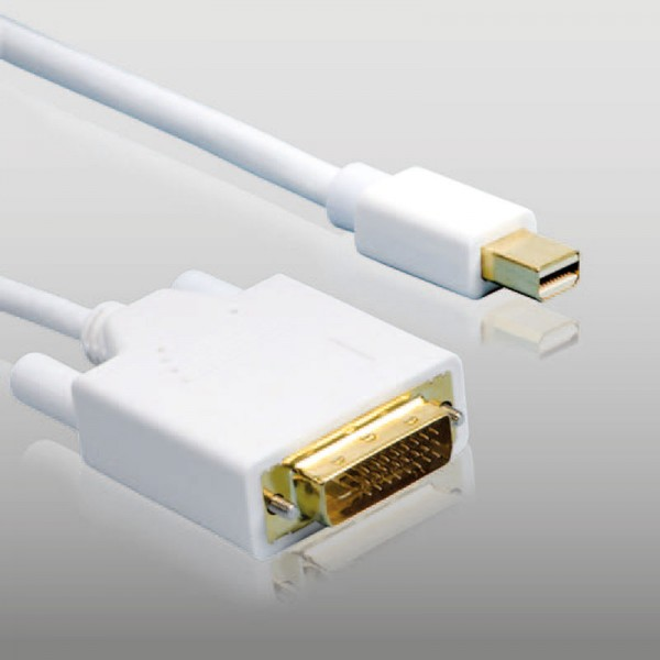 1,5m mini Displayport > DVI Kabel 1080p FULL HD mini Display Port zu DVI für Mac