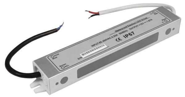 LED-Trafo McShine elektronisch IP67 1-20W Ein 85~264V Aus 12V wasserfest