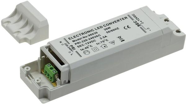 LED-Trafo CT-30-V2 Transformator 1-30W 230V~ auf 12V= LED-Leuchten LED-Strips