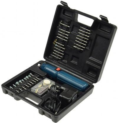 Mini Bohrmaschinen Set DrillX mit Akku 60-teilig bis zu 10.000upm mit Aufsätzen