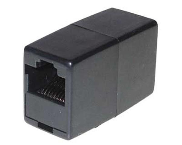 CAT 6 Patch Kupplung RJ45 LAN Verbinder Modularkupplung 2x RJ45 Buchse schwarz