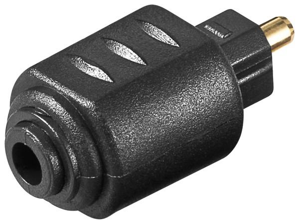 Goobay® Toslink Adapter Opto Opti Stecker auf 3,5 mm Mini Kuppplung optischer