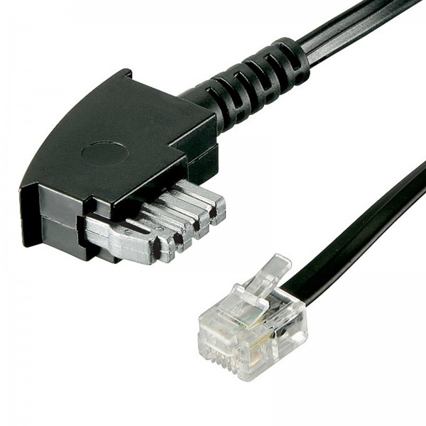 10m Telefon Kabel mit Brücke TAE-N St. > RJ11 St. 6P2C für Modem Fax Telefon