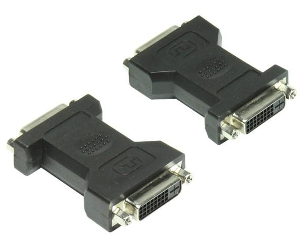 Adapter 2* Kupplung DVI Buchse 24+1 > DVI Buchse 24+1 DVI-I Kabel Verbinder