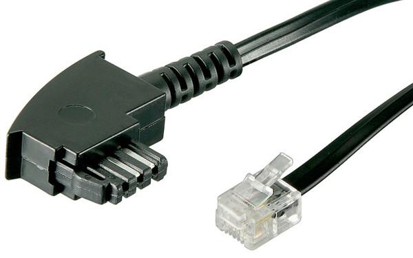 6m Telefon-Kabel TAE F auf RJ11 Stecker 6P4C 4-polig internationale Belegung