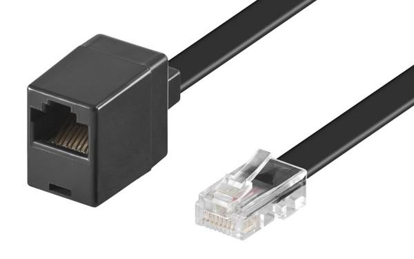 10m ISDN Telefon Kabel Verlängerung 8polig belegt 8P8C RJ45 Stecker >RJ45 Buchse