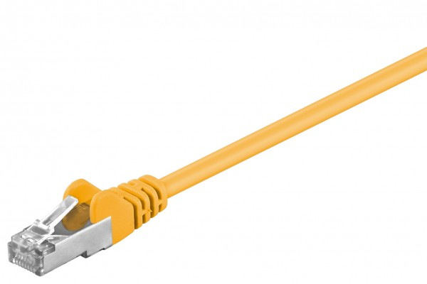 CAT5e Patchkabel LAN DSL Netzwerkabel FTP gelb 50m