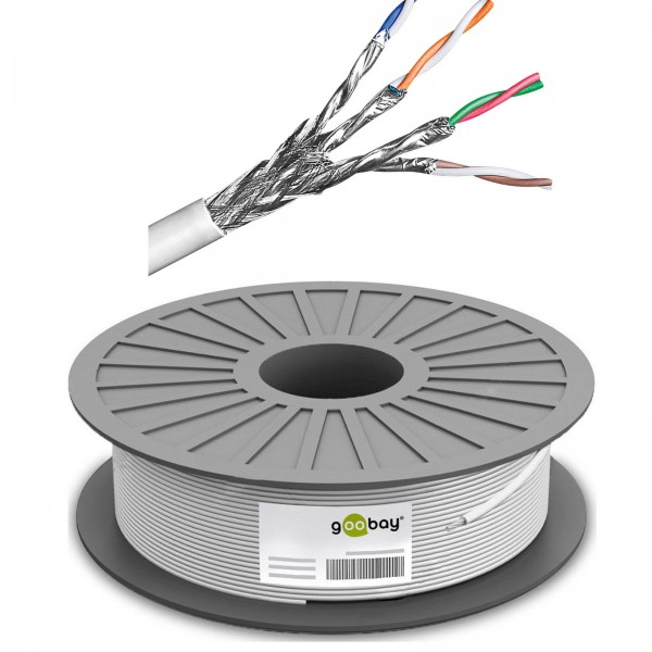 100m ---€/m CAT6 Patchkabel DSL LAN Netzwerkkabel SFTP PIMF 3*geschirmt Gigabit