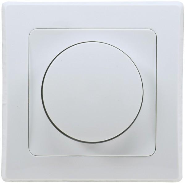 Led Dimmer DELPHI speziell für LED Lampen 3-60W inklusive Rahmen 250V~ UP weiß