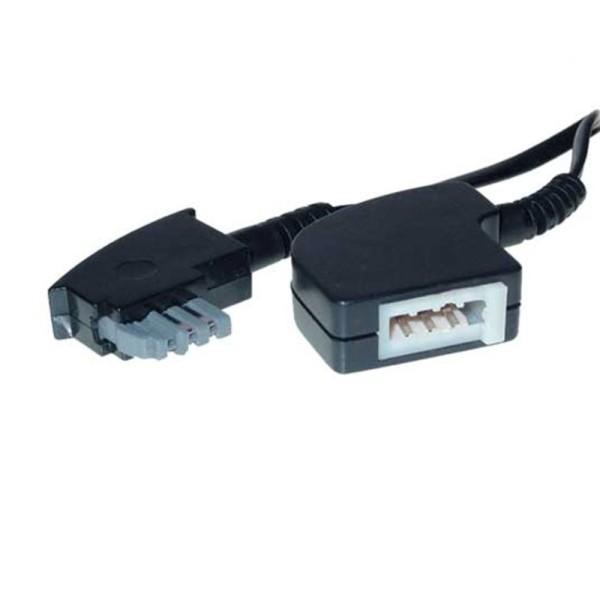 3m TAE N Telefon Verlängerung Kabel 6-adrig TAE-N Stecker > TAE-N Kupplung
