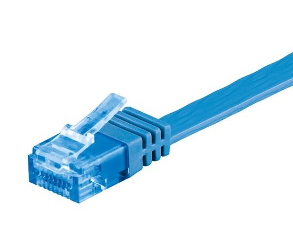 0,5m CAT 6a Patchkabel Flachkabel 500MHz U/UTP 2xRJ45 Netzwerk Kabel blau 0,5 m