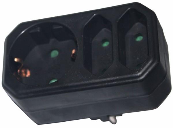 3fach Steckdosen Adapter Verteiler Mehrfachsteckdose Multistecker Euro Stecker