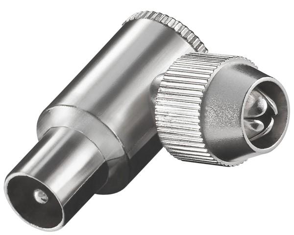 Goobay® Metall Koax Winkel Stecker Antennenstecker 9,5mm rechteckig SAT TV Kabel