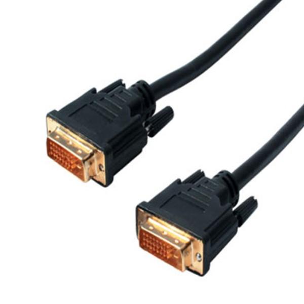 2m DVI-D Kabel 24+1 Dual Link Stecker > Stecker digital Monitor Kabel vergoldet