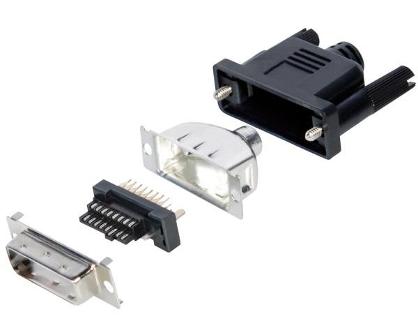DVI Stecker 24+1 Plastik schwarz Lötversion Schraube