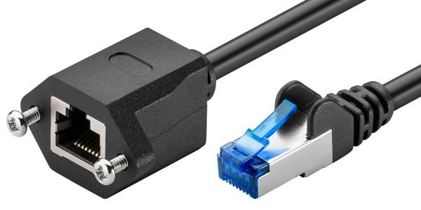1m CAT 6a Netzwerkkabel Patchkabel Verlängerung S/FTP LAN DSL RJ45 schwarz