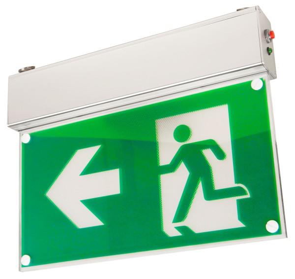 LED Notleuchte Fluchtwegleuchte Notbeleuchtung Notausgang mit 8 Sticker alle R.