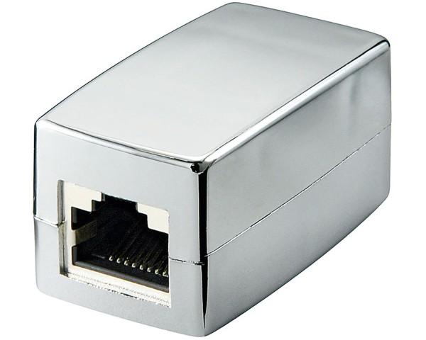 Cat 5 RJ45 2* Buchse Patchkupplung Verbinder Adapter CAT5e metall geschirmt